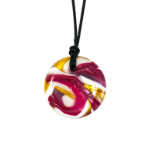 Button Pendant - 'Heaton' (Multi-colour) - Chewigem